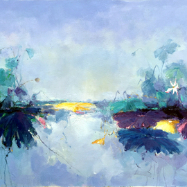 Jinsheng You: 'waterlily 500', 2019 Oil Painting, Abstract. Artist Description: I d like to express my emotion with vibrant colors and unique brush. This is an original abstract oil painting on canvas, it is one- of- kind, i have got it done recently.Due to long distance, the painting will be rolled in a tube for shipping, without ...