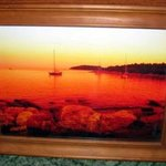 Boats At Red Island Croatia Canvas Artwork, Andrew Young