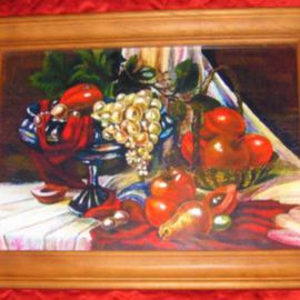 Fruits Still Life CANVAS very colorful classic picture