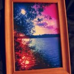 Multicolored Evening Lake Very Colorful Artwork, Andrew Young