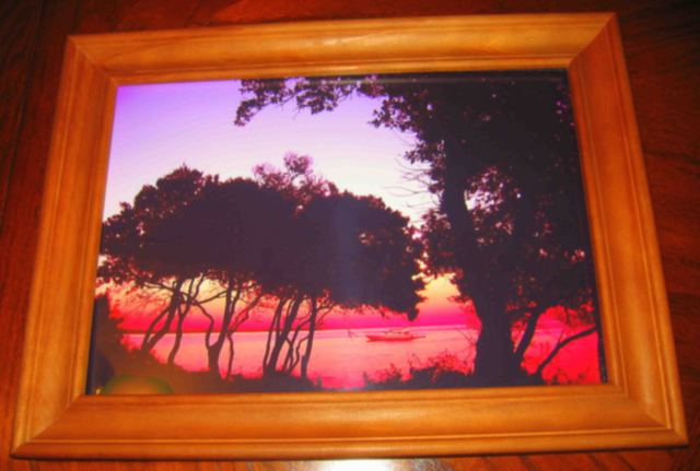 Andrew Young SUNSET At MASKIN ISLAND CROATIA fine artwork 2013