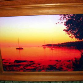 SUNSET At StANDREW ISLAND CROATIA  canvas artwork very colorful