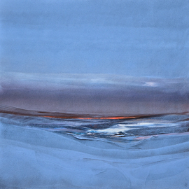 Nicholas Down: 'Arctic Meditation', 2009 Oil Painting, Abstract. Artist Description:  Oil on Gesso ...