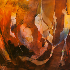 Nicholas Down Artwork Autumn Symphony, 2011 Oil Painting, Abstract Figurative