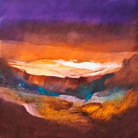 Nicholas Down: 'Autumnal', 2009 Oil Painting, Abstract. Artist Description:  Courtesy of Squiggle Design, Dorking, Surrey ...
