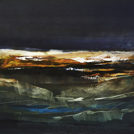 Nicholas Down: 'Cascades 1', 2008 Oil Painting, Abstract. Artist Description:  Oil on Gesso ...