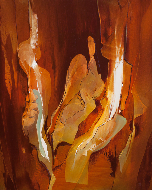 Nicholas Down  'Fire Guardian', created in 2011, Original Painting Acrylic.