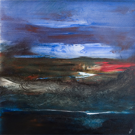 Nicholas Down: 'Long Light Skye', 2006 Oil Painting, Abstract. Artist Description: Oil on Gesso on PanelCourtesy of Mr and Mrs G Pincus, UK...