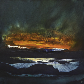 Nicholas Down: 'Northern Latitudes', 2006 Oil Painting, Abstract. Artist Description:  Oil on Gesso ...