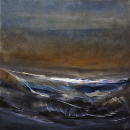 Nicholas Down: 'Northern Solitude', 2006 Oil Painting, Abstract. Artist Description:  Oil on Gesso ...