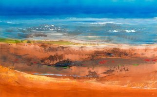 Nicholas Down Artwork Protected Wilderness, 2016 Oil Painting, Abstract Landscape