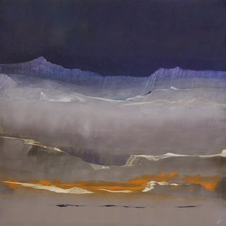 Nicholas Down Artwork Silent Hour, 2016 Oil Painting, Abstract Landscape