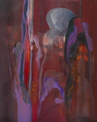 Nicholas Down: 'The Lovers', 2003 Tempera Painting, Abstract. Artist Description: Tempera with Oil Glazes...
