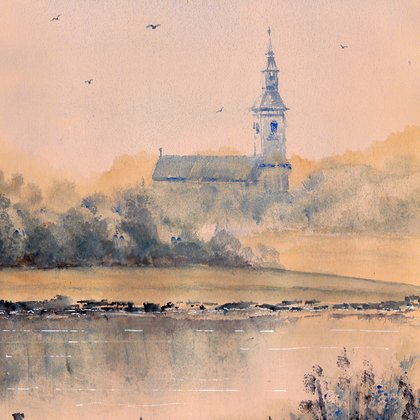 , Old Church, Landscape, $105