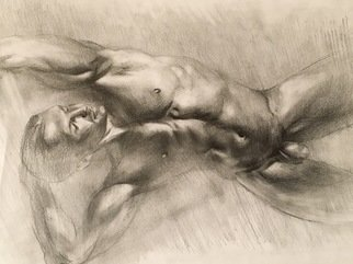 Yuriy Ivashkevych: 'dancer', 2018 Pencil Drawing, Nudes. Artist Description: From my serie aEURoe Ballet dancer aEURoe ...
