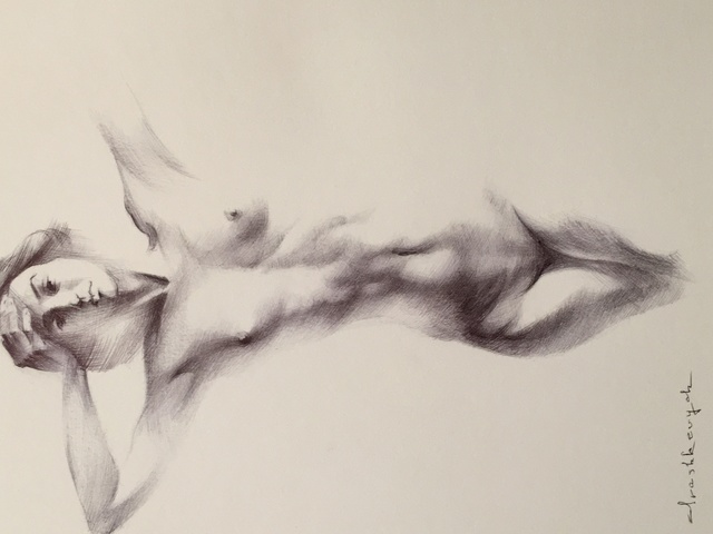 Dancer Pen Drawing By Yuriy Ivashkevych Absolutearts Com