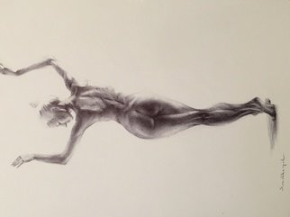 Yuriy Ivashkevych: 'dancer', 2018 Pen Drawing, nudes. Artist Description: From my serie aEURoe Ballet dancer aEURoe...