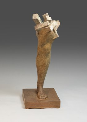Yves  Goyatton: 'Intersection', 2007 Bronze Sculpture, Figurative.