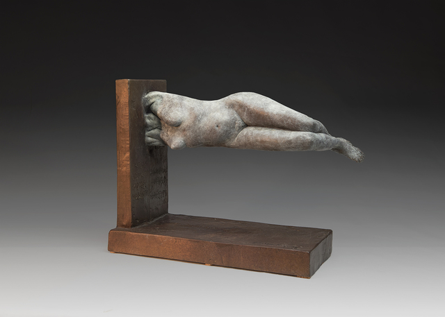 Yves  Goyatton  'Weighless', created in 2016, Original Sculpture Bronze.