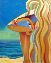 - artwork She_and_Sea-1218092313.jpg - 2008, Painting Oil, Figurative