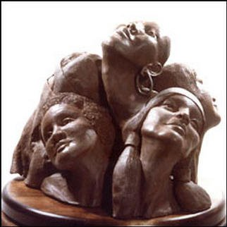 Bronze Sculpture by Zahava Sherez titled: Flower Arrangement, created in 1993