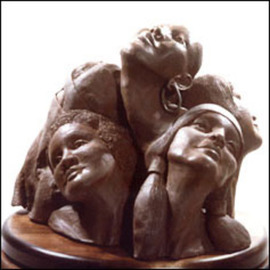 Zahava Sherez: 'Flower Arrangement', 1993 Bronze Sculpture, Figurative. Artist Description: