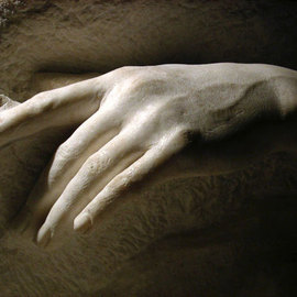 Zamin Hussain Artwork detail of The dying mermaid, 2009 Stone Sculpture, Figurative