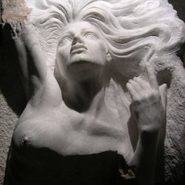 Zamin Hussain Artwork the dying mermaid, 2009 Stone Sculpture, Figurative