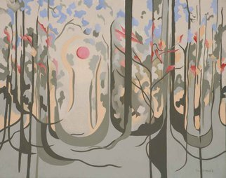 Terry Zarate: 'Early Autumn', 2008 Oil Painting, Seasons.