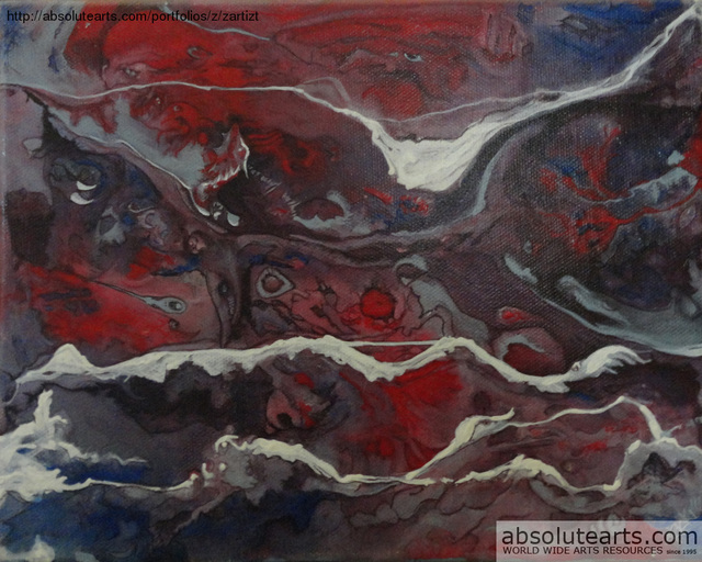 Rickie Dickerson  'Angry Seas', created in 2013, Original Digital Other.