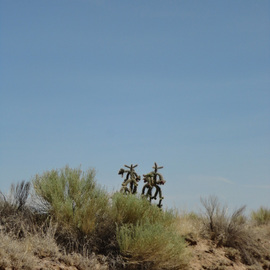 Rickie Dickerson Artwork Cactus Cowboys, 2012 Color Photograph, Abstract Landscape