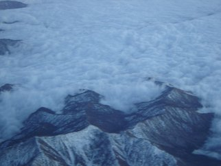 Rickie Dickerson: 'Cloud bowl', 2007 Color Photograph, Aviation.  I am fascinated by the views while flying. Its all majic. ...