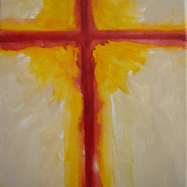 Rickie Dickerson: 'Cross', 2009 Acrylic Painting, Abstract Figurative. Artist Description:  I just paint. . . make of it what you will. ...