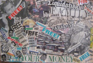 Rickie Dickerson: 'Enduring Freedom', 2002 Collage, Political.  I love my country AND we need to pull our heads from the sand. We are SO comfortably ignorant. ...