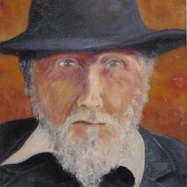Rickie Dickerson: 'Ezra Pound 2', 2000 Oil Painting, Portrait. Artist Description: I admire Ezra Pound. His story is fascinating and his face draws me....