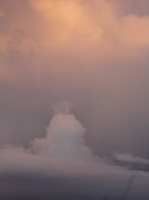 Rickie Dickerson: 'Formation', 2013 Color Photograph, Atmosphere.  A close up. . . clouds are so interesting. ...