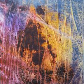 Rickie Dickerson: 'Into the Woods', 2002 Acrylic Painting, Abstract.