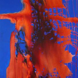 Rickie Dickerson: 'Yikes', 2005 Acrylic Painting, Abstract. Artist Description: this is a very powerful piece, I have it turned on its side right now. . . you should turn it all around. . . ....