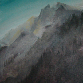 Rickie Dickerson: 'mountains', 2006 Acrylic Painting, Abstract.