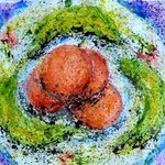 food space oranges and bananas By Zaure Kadyke