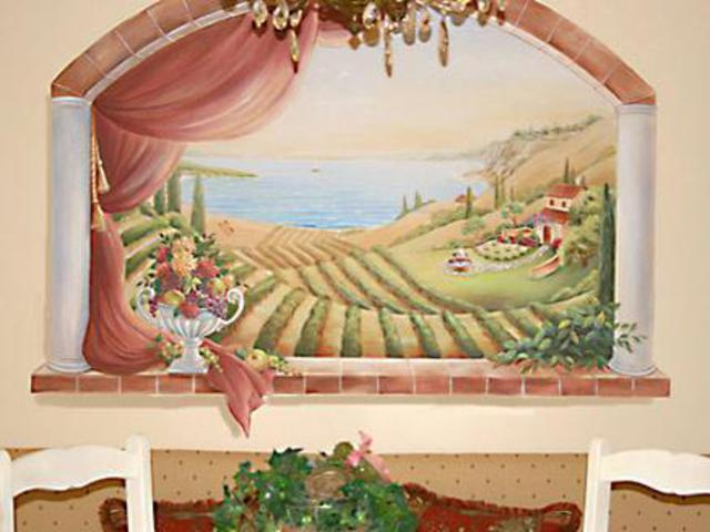 Marsha Bowers  'Kitchen Mural', created in 2006, Original Drawing Pencil.