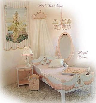 Marsha Bowers: 'Royal princess  Room', 2005 Other, Children. Children' s hand painted furniture collection. Includes hand painted princess bed, crown, side table, tray, chandelier and more!...