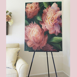 Marsha Bowers Artwork Spring Floral, 2016 Oil Painting, Floral