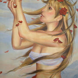 Marsha Bowers: 'Springs Breath', 2010 Oil Painting, Figurative. Artist Description:      Oil on Canvas    ...