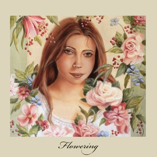 Marsha Bowers: 'flowering', 2018 Oil Painting, Portrait. Artist Description: painting, oil, portrait, fineart...