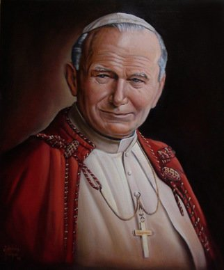 Artist: Marco Antonio Zeledon Truque - Title: PAPA JUAN PABLO SEGUNDO - Medium: Oil Painting - Year: 2012