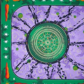 Pierre Davis Dutreix: 'Purplemandala', 2003 Acrylic Painting, Mandala. Artist Description:  Purple mandala. . . see bio    ...