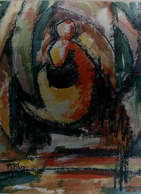 Peter Ziboce: 'Ziboce 2003-1', 2003 Acrylic Painting, Abstract. Budda...