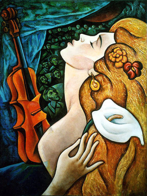 Zinovy Shersher  'Passion II', created in 2003, Original Giclee Reproduction.