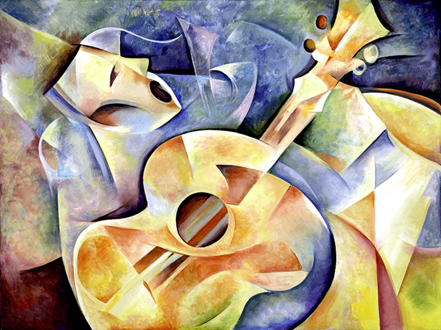 Zinovy Shersher  'Rhythm', created in 2015, Original Giclee Reproduction.